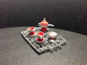 Tea set w/ tray